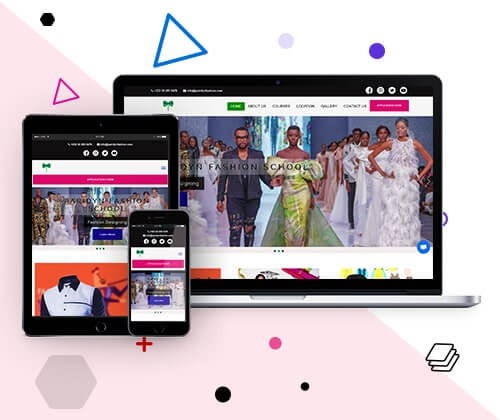 Best Fashion School Website Design | Uddfel Technologies Limited