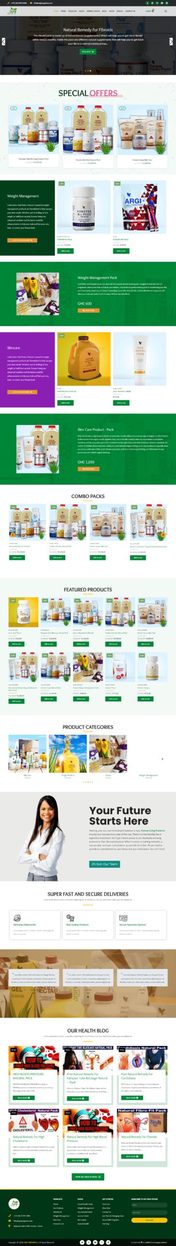 An Ecommerce Organic Online Shop | Uddfel Technologies Limited