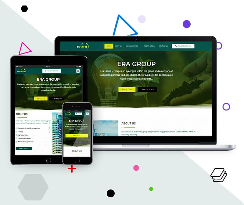 Diversified group of companies Website