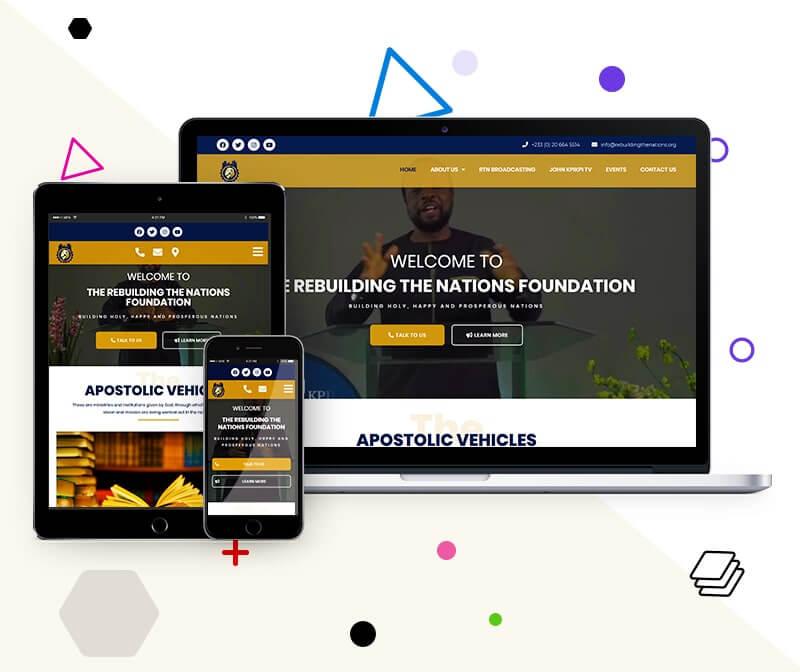Modernized Organization Website - Uddfel Technologies
