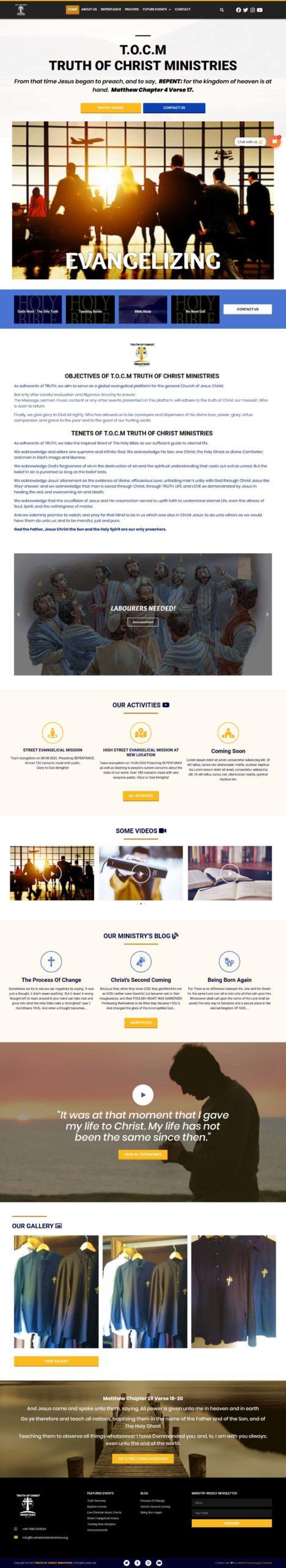 Best Church Website Design - Uddfel Technologies Limited